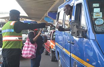 Police inspect nose masks