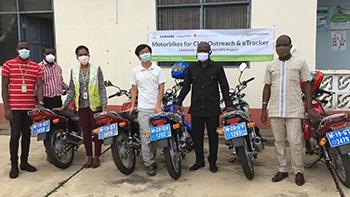 Samsung mHealth supports Adaklu District Health Directorate with 6 motorbikes