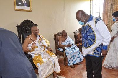 GAR Minister pays courtesy call on Ga Mantse under heavy security