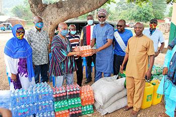MP presents food items to Ho-Sabong Zongo