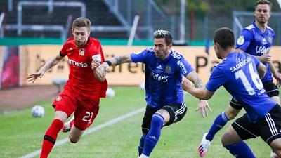 Leverkusen end Saarbruecken German Cup fairy-tale