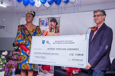BlueCrest College honours Miss Ghana 2020