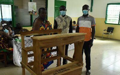GREL gives 200 dual desks to 4 schools in Ahanta West