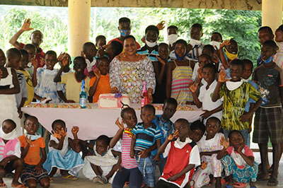Fashion designer reaches out to Hour of Grace Orphanage