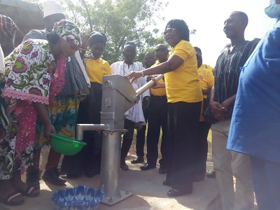 Nursing and Midwifery Council inaugurates two boreholes in North East Region