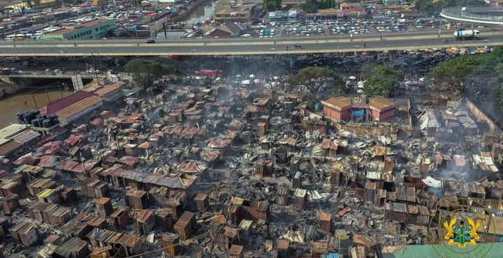 Odawna Market Fire: Over 3,000 affected traders to receive support from NBSSI – President Akufo-Addo