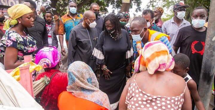 Prof Naana Jane Opoku-Agyemang empathises with Odawna traders