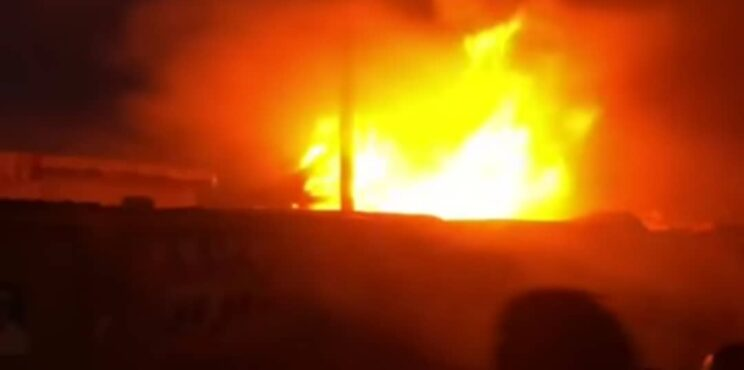 Breaking: Another fire outbreak at Odawna market
