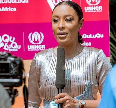 Nikki Samonas pledges support for refugees in Ghana