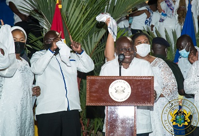 Wild jubilations for Nana Akufo-Addo …as he grabs second term in office