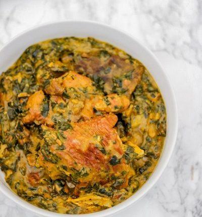 Bitter leaf soup (Ofe Onugbu)