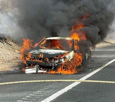 Good samaritans rescue elderly couple from burning vehicle