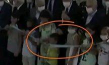 Boy cuts inauguration ribbon before Turkish president