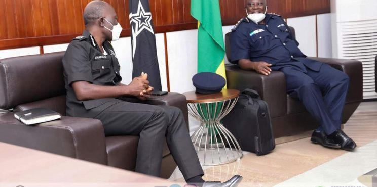 SIERRA LEONEAN IGP PAYS A COURTESY CALL ON DR. GEORGE AKUFFO DAMPARE