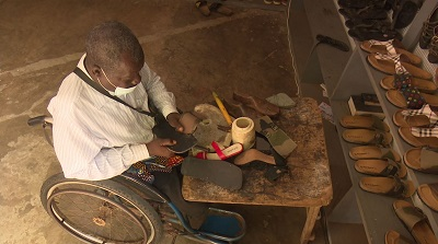 Stop begging for alms… disabled cobbler admonishes PWDs